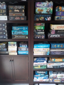 a small part of our gaming shelves